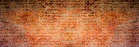 Czerwonej cegły tło Wysoka rozdzielczość panorama Obraz Stock
