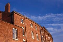 Czerwonej cegły Tarasujący domy, Anglia Obraz Stock
