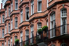 Czerwonej cegły domy Fotografia Stock