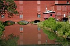 Czerwonej cegły fabryka Obrazy Stock