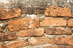 Czerwonej cegły odszukana tekstura Fotografia Stock