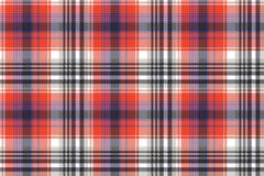Czerwonej czeka piksla szkockiej kraty bezszwowy wzór ilustracja wektor
