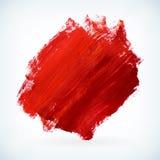 Czerwonej farby uderzenia wektoru artystyczny suchy szczotkarski tło Zdjęcie Stock