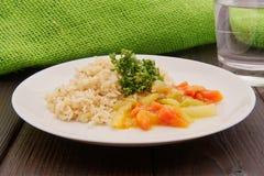 Czerwonej fasoli kumberland z dzikimi ryż na stole Fotografia Stock