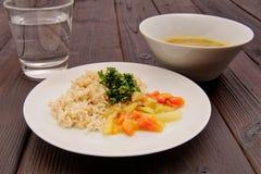 Czerwonej fasoli kumberland z dzikimi ryż na stole Zdjęcia Stock