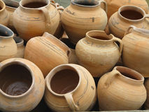 Czerwonej gliny ceramics abstrakta ceramiczny tło Zdjęcia Stock