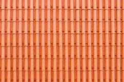 Czerwonej gliny dachowe płytki Zdjęcie Royalty Free