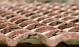 Czerwonej gliny dachowej płytki wzór Fotografia Royalty Free
