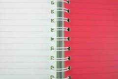 Czerwonej i białej książki linii tło zdjęcia stock