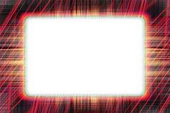 Czerwonej linii rama Zdjęcia Stock