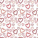 Czerwonej Linii sztuki serc różni kierunki i rozmiary royalty ilustracja