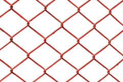 Czerwonej metalu sieci odosobniony biały bakcground Fotografia Royalty Free