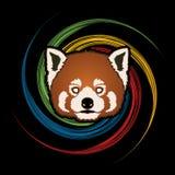 Czerwonej pandy twarzy głowa Obraz Royalty Free