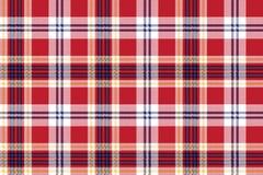Czerwonej szkockiej kraty tkaniny bezszwowa tekstura royalty ilustracja