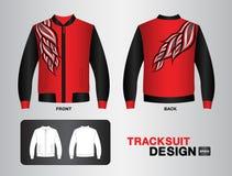 Czerwonej tracksuit projekta kurtki sporta koszulki munduru wektorowy ilustracyjny projekt Obraz Royalty Free
