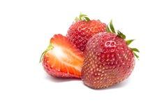 Czerwonej truskawki odosobniony biały tło Obraz Stock