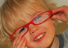 czerwoni łamani eyeglasses Obrazy Royalty Free