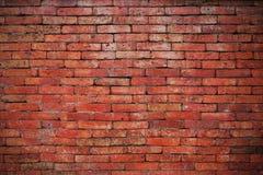 Czerwoni ściana z cegieł tła Fotografia Royalty Free