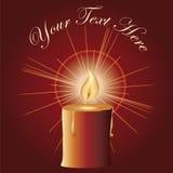 czerwoni świeczek boże narodzenia Zdjęcia Stock