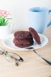 Czerwoni Aksamitni ciastka Zdjęcie Stock