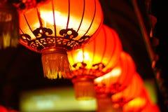 Czerwoni Azjatyccy lampiony obrazy royalty free
