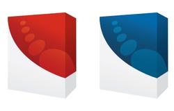 czerwoni błękitny pudełka Zdjęcia Stock