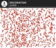 Czerwoni błyszczący confetti ilustracja wektor