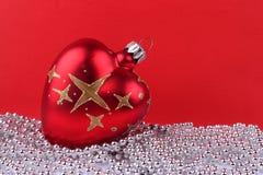 czerwoni balowi boże narodzenia Obraz Royalty Free