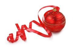 czerwoni balowi boże narodzenia Zdjęcie Royalty Free