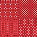 Czerwoni bandana wzory Zdjęcia Stock