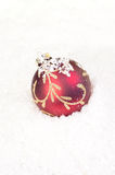 czerwoni bauble boże narodzenia Fotografia Stock