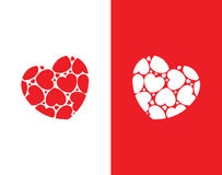 Czerwoni & biali serca ilustracyjni Fotografia Stock