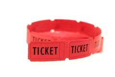 czerwoni bilety Obrazy Stock