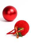 czerwoni boże narodzenie balowi ornamenty obraz stock