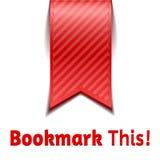 Czerwoni bookmarks na białym tle odizolowywającym Obraz Royalty Free