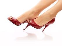Czerwoni buty Zdjęcia Royalty Free