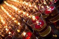 Czerwoni candels Obrazy Stock