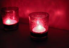 Czerwoni candlesticks Zdjęcie Stock