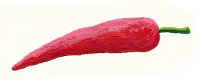 czerwoni chłodni gorący pepperoni Obraz Royalty Free