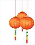 czerwoni chińscy lampiony Zdjęcia Stock