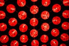 Czerwoni Chińscy lampiony dekorują Obrazy Royalty Free