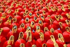 czerwoni chińscy lampiony Zdjęcia Royalty Free