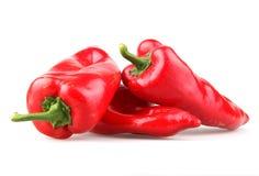 czerwoni chili pieprze Zdjęcia Royalty Free
