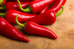 czerwoni chili pieprze Obraz Stock