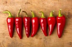 czerwoni chili pieprze Zdjęcia Stock