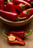 czerwoni chili pieprze Zdjęcie Stock