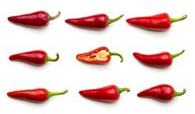 czerwoni chili pieprze Fotografia Stock