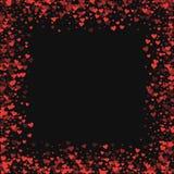 czerwoni confetti serca Obrazy Stock