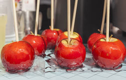 Czerwoni cukierków jabłka Zdjęcie Royalty Free