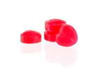 Czerwoni cukierków serca Zdjęcia Royalty Free